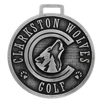 Clarkston Wolves Golf Bag Tag with Wolf