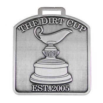 The Dirt Cup with Text of Established 2005 Golf Bag Tag