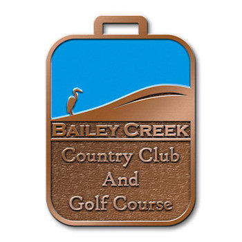 Bailey Creek Country Club and Golf Course Bag Tag with Blue Sky and Sand Dune