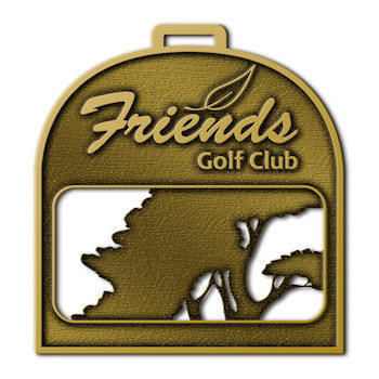 Friends Golf Club Bag Tag with Cut Out Tree