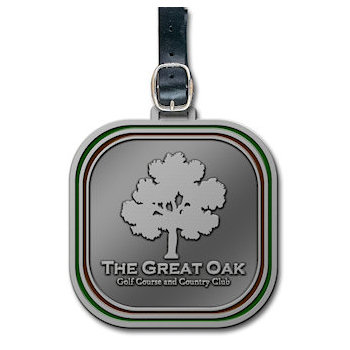 The Great Oak Country Club Golf Bag Tag with Oak Tree