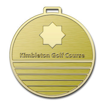 Kimbleton Golf Course Bag Tag with Etched Star Design
