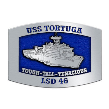 USS Tortuga Whidbey Island-class dock landing ship belt buckle