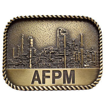 Commemorative Industrial themed 3D belt buckle with rope border