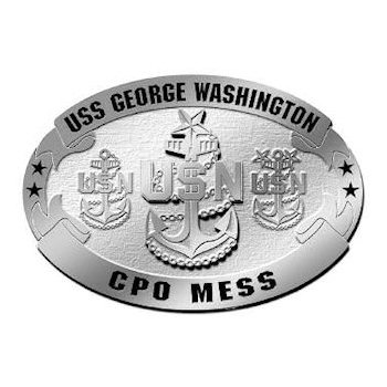 USS George Washinton aircraft carrier belt buckle - CPO Mess