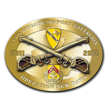 215th Brigade Support Battalion with Crossed Sabres