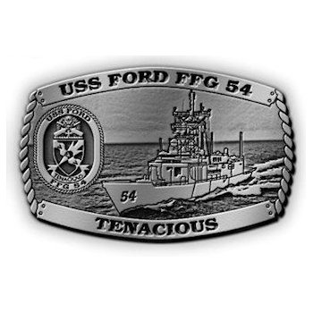 USS Ford FFG 54 Belt Buckle