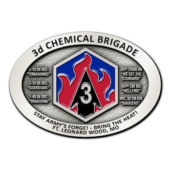 Chemical Brigade Army Belt Buckle