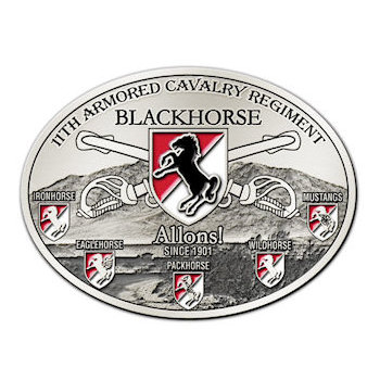 11th Armored Cavalry Regiment Blackhorse Belt Buckle