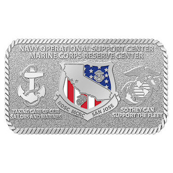Navy Operational Support Center Marine Corps Reserve Center Belt Buckle