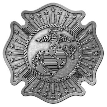 Maltese Cross shape Belt Buckle with Marine Corps - Eagle Globe Anchor