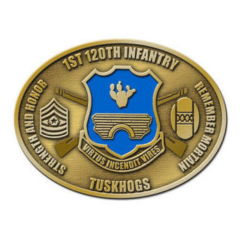 Infantry Army Belt Buckle with Crossed Rifles - Strength and Honor - Tuskhogs