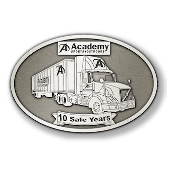 Ten Safe Years of Driving for Long Haul Trucking Belt Buckle