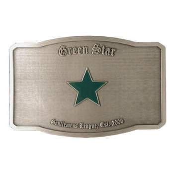 Green Star belt buckle
