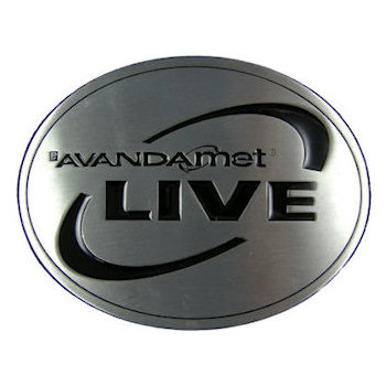 Oval Live belt buckle with color fill accent