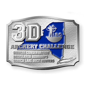 Archery belt buckle with color fill
