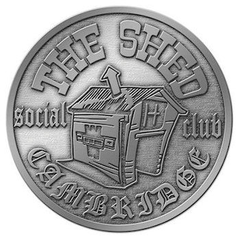 Social Club house round belt buckle