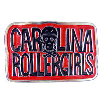 Roller derby belt buckle