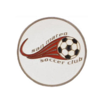 Soccer Club belt buckle with colorful soccer ball