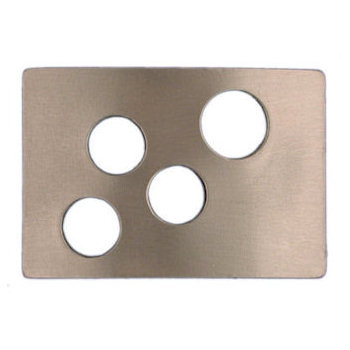 Unique belt buckle with cut out circles