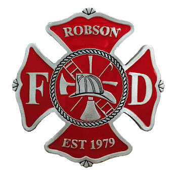 Maltese Cross Robson Fire Department Belt Buckle Fireman