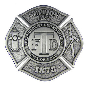 Commemorative Firefighter belt buckle in Maltese cross shape