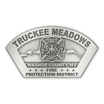 Fire and Rescue District Belt Buckle with Maltese Cross in centre of Uniquely shaped Belt Buckle