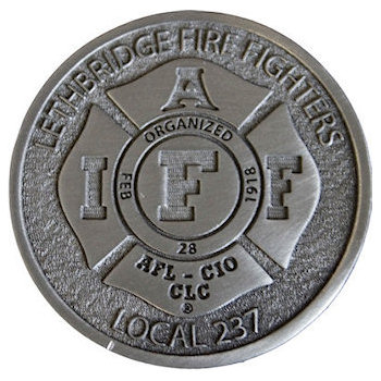 Maltese Cross centered on this Local Fire Fighters Belt Buckle