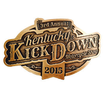 3rd Annual Kenturcky Kick Down Motorcycle Show Belt Buckle