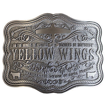 Intricate Design on this Beautiful Engraved Western Belt Buckle with rope border