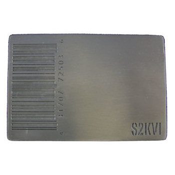 Rectangular bar code belt buckle