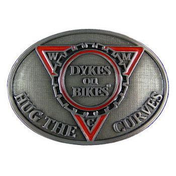 Women's Motorcycle Club belt buckle