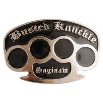 Busted Knuckle Clothing belt buckle