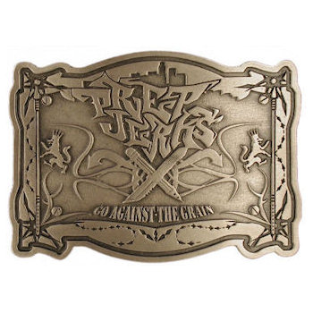 Detailed belt buckle with itricate engravings