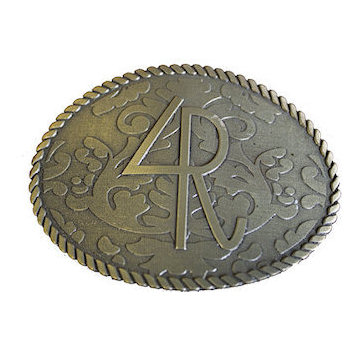 Filigree Buckle with Rope Border