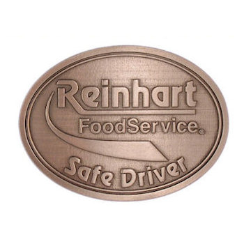 Safe driver belt buckle for food service industry
