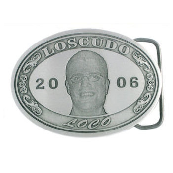 Personal Memorial belt buckle with photo etch presentation
