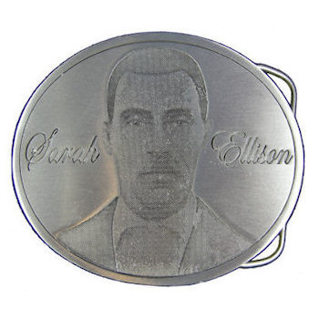 Remember with oval photo etch belt buckle