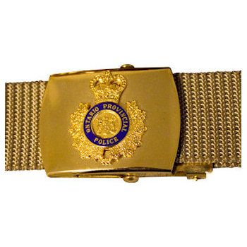 Police Buckle with Crest and Web Belt