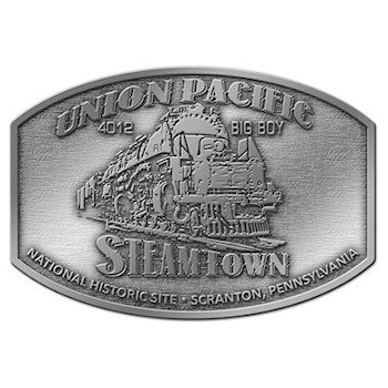Union Pacific Steamtown Historic Site Belt Buckle with Locomotive