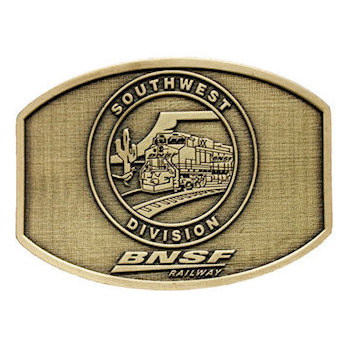 Freight Railroad Network Southwest Division Belt Buckle
