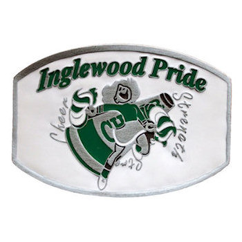 School Sports Mascot belt buckle