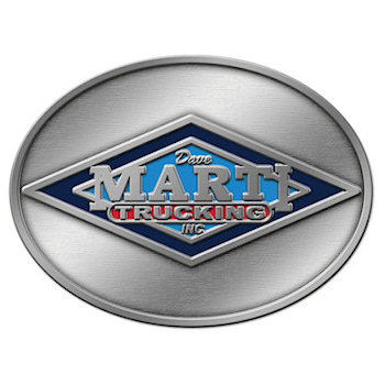 Buckle design for trucking company with logo and colors