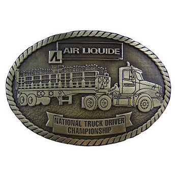 Championship presentation buckle for truck drivers competition