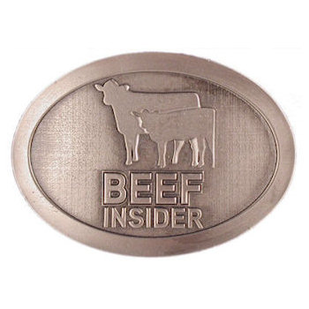 Western theme belt buckle for beef farming