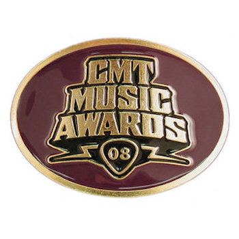 Country and Western Music Award belt buckle with color