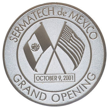 Presentation coin for event between Mexico and US