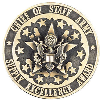 Presentation coin for excellence award