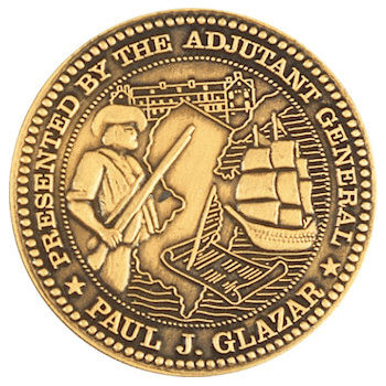 Presentation award coin with fine detail images