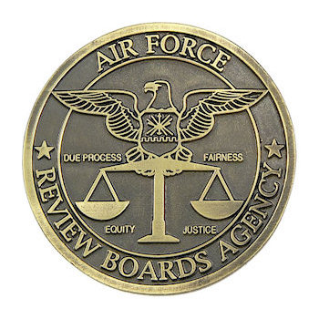 Large antiqued coin emblem for US Air Force Department